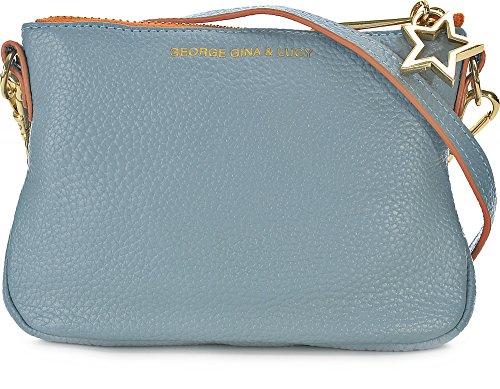 GEORGE GINA & LUCY, Damen Handtaschen, Umhängetaschen, Crossover-Bags, Crossbodys, Leder, Blau, 15 x 11,5 x 2,5 cm (B x H x T)
