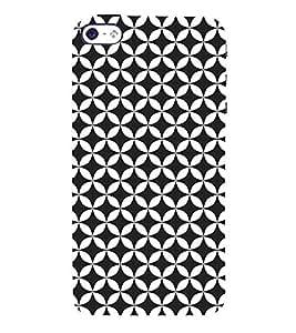 Self Black Design 3D Hard Polycarbonate Designer Back Case Cover for Apple iPhone 4