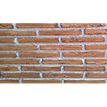 Polima Panel ladrillo Decorativo de Poliuretano, Modelo Bailen, Medidas Ancho 103 Alto 88 Grueso