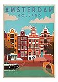 Vintage Travel Posters Universal Prints A4 Amsterdam by Universal Prints Ltd