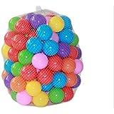 Westeng Ballbad Ozeanbälle Plastikbälle Baby Bälle für Pop Up Zelt und Ball Pool,50 Stück mehrfarbig