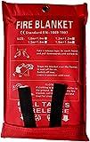 Lonnsaffe Coperte antincendio Coperta antinfortunistica per coperta antincendio in fibra di vetro Coperta antinfortunistica Ideale per cucina, camino, griglia, auto, campeggio (1.0x1.0m)