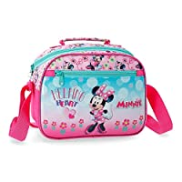 Disney Minnie Heart Adaptable Beauty Case with Shoulder Strap Travel Garment Bag, 25 cm, 4.75 Liters, Pink