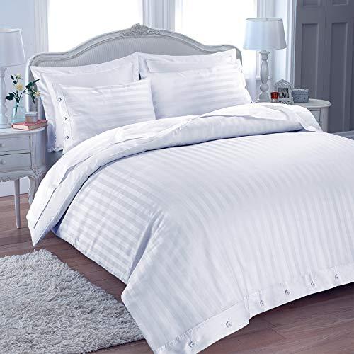 Juego de ropa de cama de funda de edredón y fundas de almohada con calidad propia de hotel y hecho de algodón egipcio (T230). Fibras de algodón egipcio, además de ser muy resistentes y lavables, son suaves y dan a tu cama un aspecto elegante y luj...