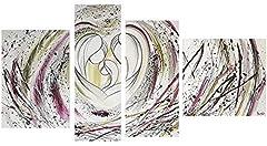 Idea Regalo - I Colori del Caribe Quadri CAPEZZALI Dipinti A Mano Olio su Tela CAPOLETTI Religiosi Immagine Sacra per Camera da Letto Sacra Famiglia Alta QUALITA' Made in Italy Cuore 2