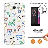c01605 - Summer time Aloha holiday doodle Design Samsung Galaxy J5 (2017) SM-J530 Fashion Trend Leichtgewicht Hülle Ultra Slim 0.3MM Kunststoff Kanten und Rückseite Protection Hülle - Clear