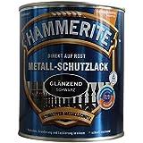 AKZO NOBEL (DIY Hammerite 5087594 metaalbeschermende lak Hammerite metalen beschermende lak glanzend 2,500 L, zwart, 2,5 lite