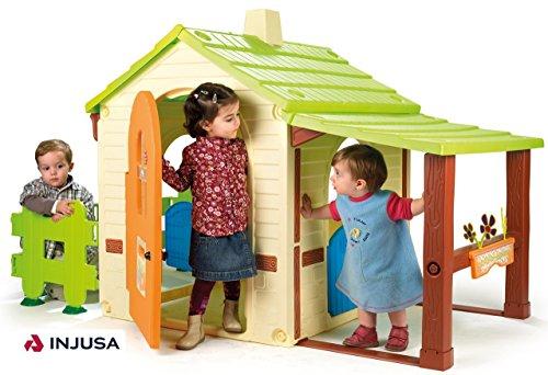 INJUSA Casa Country House para niños a partir de 2 años, con porche y jardín (2033)