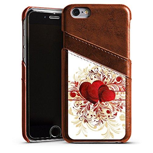 Apple iPhone 4 Housse Étui Silicone Coque Protection Amour silencieux Motif Motif Étui en cuir marron