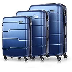 "TOMSHOO Ensemble de Bagages de Luxe 3PCS Spinner Casque Dur 20""/ 24"" / 28""Carry-on Suitcase PC + ABS Trolley W/Combination Lock"