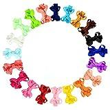 Säuglingsbaby -Haar-Bogen-Clips Hairpin Spangen Set 20 Farben