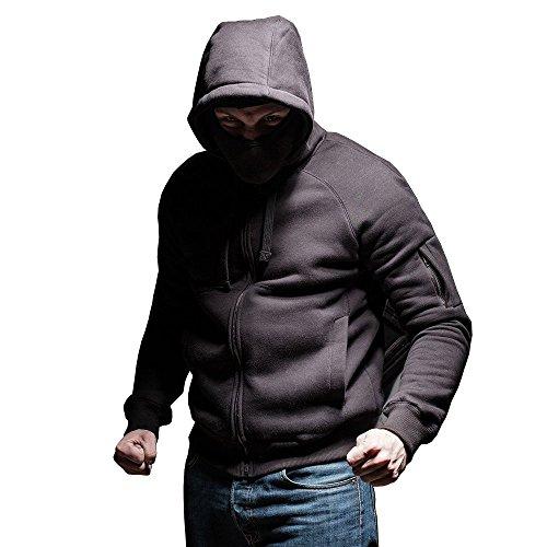 PG Wear Ninja Kapuzenjacke Full Face Contraband schwarz mit Sturmhaube (Zip Maske Full Hoodie)