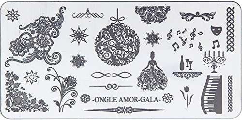 Gala - Plaque de stamping | ONGLE AMOR