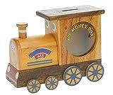 Train à vapeur : Fabriqué à la main tirelire en bois avec serrure secret! Cadeau fantastique pour Noël ou anniversaire. Haute qualité traditionnelle cadeau de Noël pour les enfants ou les adultes. (Taille 16.5 x 12.5 x 6.5 cm)