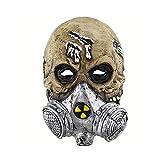 Uiophjkl Neuheit Halloween Horror Biochemische Gasmaske Totenkopf Maske Latex Maske für Erwachsene und Kinder