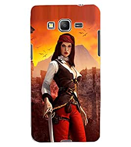 ColourCraft The Warrior Girl Design Back Case Cover for SAMSUNG GALAXY GRAND PRIME DUOS TV G530BT