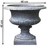 L'ORIGINALE DECO Coupe Vase Vasque Pot Médicis Fibres de Ciment Gris ø48cm...