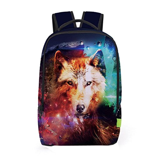1a62b59d2ab770 tloowy. Clearance! Unisex 3D Galaxy School College Backpack Shoulder Bag  Travel Bag Daypack Rucksack for Men