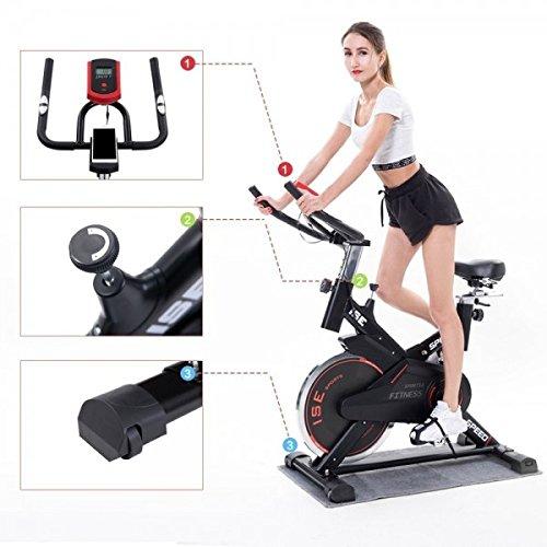 ISE Vélo de biking vélo d appartement ergomètre, supports pour...