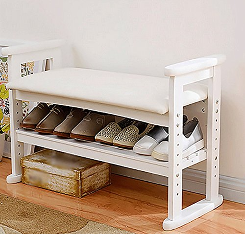 Rack di scarpe per mobili da corridoio legno massello scarpiera sgabello change scarpa bagagli - Mobili da corridoio ...
