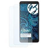 Bruni Schutzfolie für Alcatel 3C Folie, glasklare Bildschirmschutzfolie (2X)
