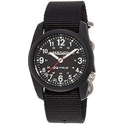 Bertucci Mens 11015 DX3 Field Analog Wrist Watch w/ Black Band (Black)