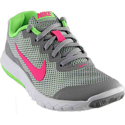 new product b443f 04f68 Nike Men s Flex Experience RN 4 (Wolf Grey Hyper Pink Vltg Grn White) Running  Shoe, 9 B(M) US