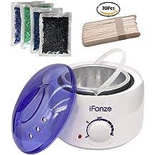 Calentador De Cera,Depilador De Cera,Breett depilatory machine calentador cera depilatoria profesional para la depilación,Incluyendo Wax Heater,100g*4 bolsa de granos de cera + 30 espátulas de madera
