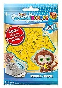 CRAZE fusibles Fuse Beads Splash BEADYS Juego de Recambio Cuentas de Agua Recarga-Pack Amarillo 11485, Color