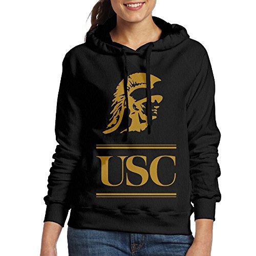 AcFun Mujer USC Trojans Logo de fútbol Jersey negro