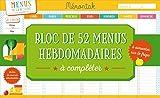 Bloc de 52 menus hebdomadaires à compléter Mémoniak 2018