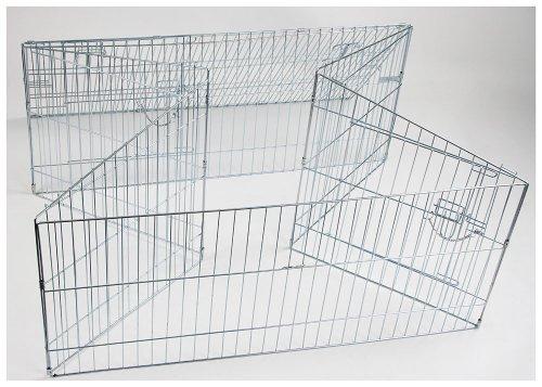 kaninchen freilaufgehege easy mit sonnenschutz kerbl xxl verzinkt 115 x 115 x 60 cm. Black Bedroom Furniture Sets. Home Design Ideas