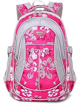 Tibes Oxford Rucksack gedruckt Nette wasserdichte Rucksack Schulrucksack für Mädchen