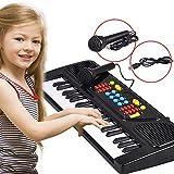 ZHXUANXUAN Kindermusikinstrument Spielzeug 37 Taste Schwarz-Weiß Schlüssel Simulation Tastatur Doppel Spg.Versorgungsteilmodus mit Mikrofon