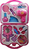 #7: Fashion Girl Beauty Set Makeup Toy with Mirror Hairdryer & Styling Accessories, Pretend Play Kids (PINK)