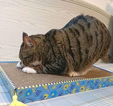 Ockerly Grand Chat En Laine Élargie Cat Cat Cat Scratch Teinture En Carton Ondulé Classique Assis Abordable Cat Scratch Board ( Size : 47x25x4.7 cm )