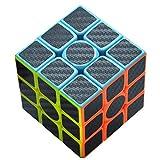 Maomaoyu Cubo Magico 3x3 3x3x3 Profesional Puzzle Cubo de la Velocidad Fibra De Carbono Negro