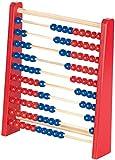Playtastic Spielzeug: Holz-Rechenschieber mit 100 Holzperlen, 2 Farben (blau &...