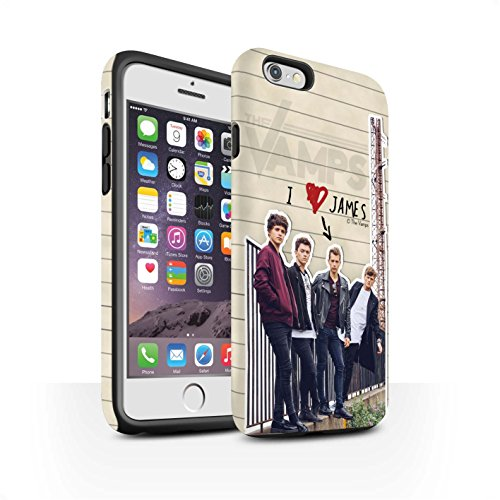 Offiziell The Vamps Hülle / Matte Harten Stoßfest Case für Apple iPhone 6S / Pack 5pcs Muster / The Vamps Geheimes Tagebuch Kollektion James