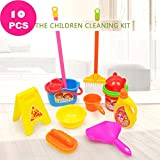 IMhope Cleaning Toy Set Kids Educational Toys 10pcs Plastic Children Kids Cleaning Birthday Party Kitchen Food Pretend Play