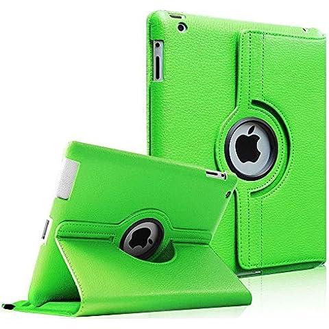 Fintie iPad 4 / 3 / 2 Custodia in pelle - Slim girevole Smart 360 gradi di rotazione Case Cover Custodia Protettiva con Funzione sonno auto / sveglia la funzione per Apple iPad 2 / 3 / 4 Retina, Verde