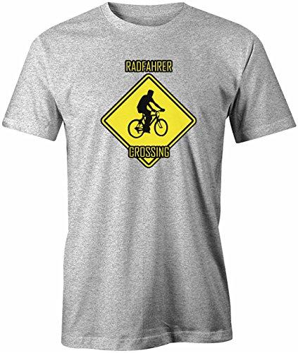 Radfahrer Crossing - Hobby Freizeit - Herren T-SHIRT Grau Meliert
