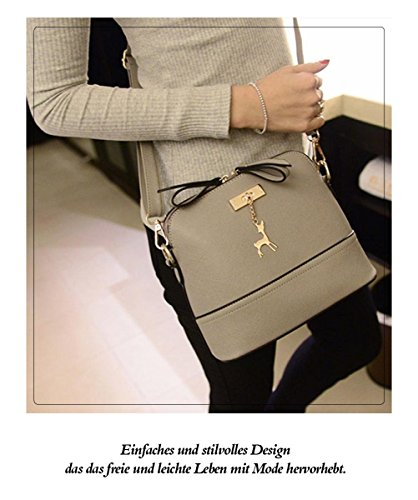 Honeymall donne di stampa della borsa a tracolla in pelle Bauletto Messenger piccolo Borsa Crossbody di moda Blu Grigio