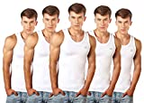 #9: Lux Cozi Men's 100% Cotton White Vests (Pack of 5)