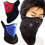 #7: Vango Creations® Anti Dust Pollution Smoke N95 Mouth Mask Ski Masks Neck Worm Winter Cold Weather Half Face Mask for Motorcycles, Bicycle, Skiing, Running,Mountain Climbing - Black