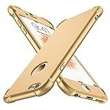 Funda iPhone 6/6s, con [2 x Protector de Pantalla de Vidrio Templado ] ORETech 360 Carcasa iPhone 6/6s Case Cover Silicona Ligera Delgado PC + TPU Bumper Rubber Caso para iPhone 6 / 6s 4.7'' - Oro