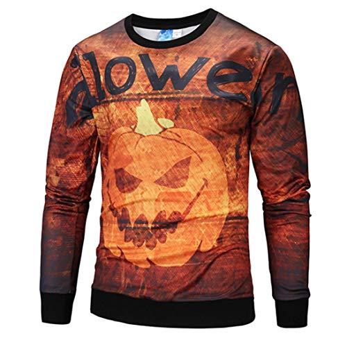 Kanpola Pullover Herren Damen 3D Druck Muster Slim Fit Sweatshirt Cosplay Sportswear Trainingsanzug Unisex Halloween Kostüm Party Karneval Verkleidung