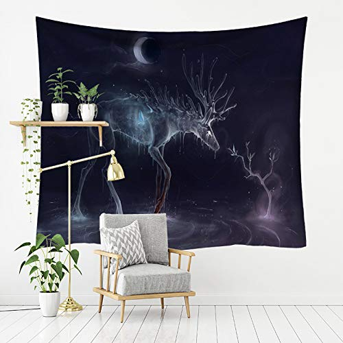 Shentop Tapestry Forest Elk Series Print Home Tapestry Wall Hanging Beach Towel Beach Blanket 7 200x150 (Beach Towel Blanket)