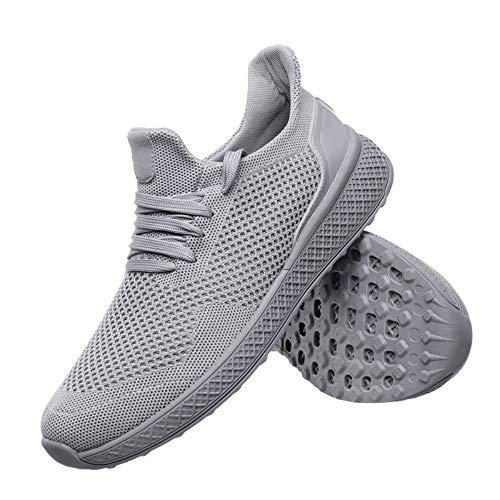 YAYADI Running Scarpe Uomo Adulto Jogging Traspirante Maschio A Piedi Scarpe Atletica Fondo Cavo Sneakers,40