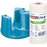 Tesa 53834-00000-00 - Portarrollos easy + 6 rollos, color azul
